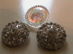 Vintage Buttons  Rhinestone embellished and Czech by pillowtalkswf, $8.25