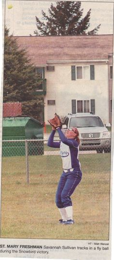 The first of MANY newspaper photos of Savannah playing the game she loves.