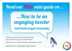 Download our latest guide to be an effective Tweeter and spread the good word!