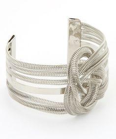 Love this Silver Knot Coil Cuff Bracelet on #zulily! #zulilyfinds