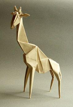 キリン写真 / origami giraffe