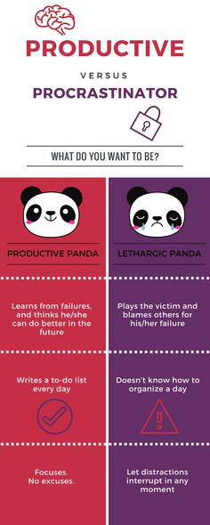 Tips for Productivity: Productive Panda VS Lethargic Panda