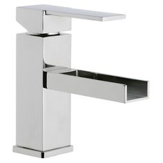 Bathroom Sink Faucet, Remer QC11US, 1 Lever Basin Mixer with Waterfall Spout QC11US