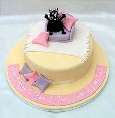 Black Cat On Sofa Birthday Cake From Sugarlicious Ltd For Themed