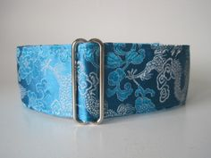 Silk Martingale Collar, Silk Dog Collar, Whippet Collar, Greyhound Martingale Collar, Turquoise Dog Collar, Asian Brocade Martingale by HuggableHound on Etsy https://www.etsy.com/listing/77820495/silk-martingale-collar-silk-dog-collar