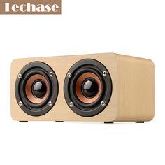Techase Bluetooth Speaker Bamboo Caixa De Som Wireless Mini Portable Speakers TF Card/Aux HiFi MP3 Player Enceinte Bluetooth Som