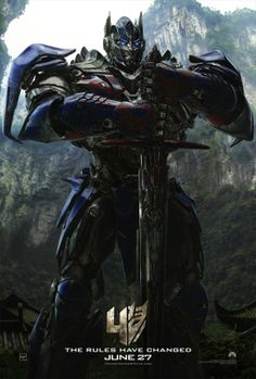 New poster for Transformers: Extinction featuring the leader of the Autobots, Optimus Prime.