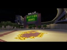Minecraft Creative Build of Baylor's McLane Stadium // So worth the watch! #SicEm