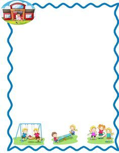 Marcos infantiles escolares para hojas - Imagui