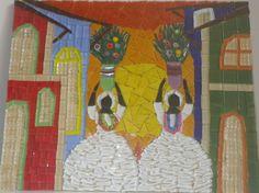 quadro de mosaico afro - Pesquisa Google