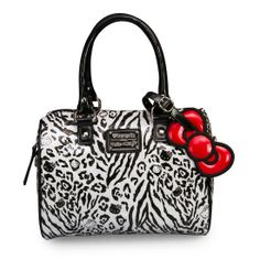 Hello Kitty Black and White Leopard Embossed Mini City Bag - Bags - Hello Kitty - Brands