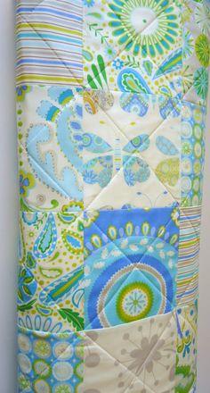 Modern Baby Quilt Kumari Garden Baby Quilt by NowandThenQuilts, $95.00