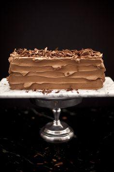 7 Layer Cake for Passover (Matzo Sponge Cake with Poppyseed Buttercream)