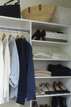 It was time to clean out the closet, drastically and once-and-for-all. I was sick of feeling as if my clothes owned me. I know ten pieces sounds pretty draconian, but more minimal is always more peaceful.