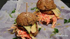 Hamburger-zsemle Hamburger, Sandwiches, Salad, Ethnic Recipes, Food, Essen, Hamburgers, Paninis, Yemek