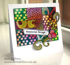 Kim Dellow: Wonderful Stamping Batik ~ using dylusions inks