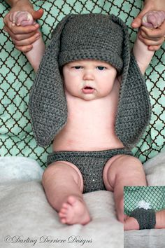 Baby Bunny Pattern by DarlingDerriere on Etsy