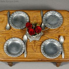Antique Metal Service for your Doll's Table