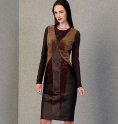 Misses' Dress - for business meetings! V1409; simple, elegant Donna Karan #fallintofashion14 #mccallpatterncompany