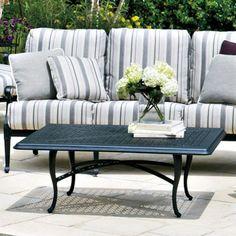 Outdoor Woodard Hampton Cast 36 x 48 in. Coffee Patio Table - WD1818-14