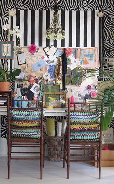 the paris apartment, crazy fun desk space