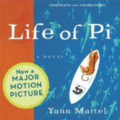 Fantastic book, one that will leave you thinking about it for a long time.  Life of Pi   [Yann Martel]