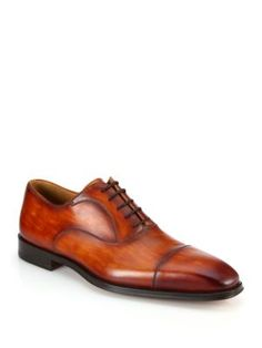 SAKS FIFTH AVENUE COLLECTION BY MAGNANNI Belorado Leather Oxfords. #saksfifthavenue #shoes #oxfords