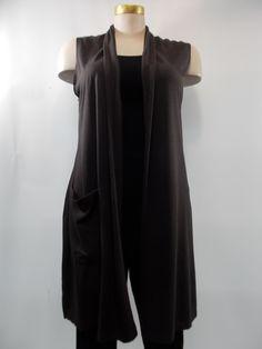Bryn Walker - Bamboo and Organic Cotton Umbra Edmund 1 Pocket Vest