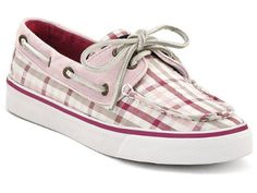 Sperry Top-Sider Women's Bahama 2-Eye Lace-Up,Raspberry Seersucker Plaid,5 US