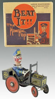 Marx Beat It The Komical Kop windup sold by Dan Morphy Auction with link follow