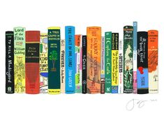Ideal Bookshelf 651: Coming of Age.  8x10, 11x14 or 16x20 - $34 (wouldn't it be better to have all the books instead of the picture?)