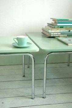 Mint Green Tables-- LoveNestDesign's color of the month for July is mint!
