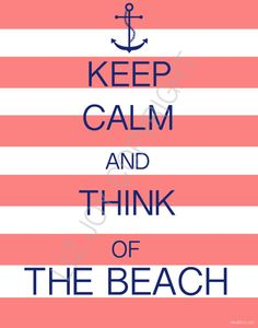 Cabana Striped Keep Calm and Think of the Beach by ShorelyChic, $24.00 #stripes #anchor #beach