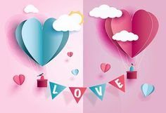 love Invitation card Valentine's day abstract background with text love and young joyful,clouds,paper cut pink heart. Valentines Day Poems, Valentine Day Love, Valentine Stuff, Kids Valentines, Valentine Ideas, Valentine Cards, Jhon Green, Muslin Backdrops, Custom Backdrops