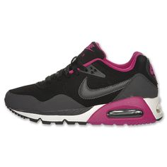 Nike Air Max Correlate Leather Women's Running Shoes| FinishLine.com | Black/Rave Pink/Anthracite