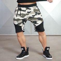 SJ Camouflage Men's Short Trousers 2016 Casual Calf-Length Jogger Mens Shorts Sweatpants Fitness Man Workout Cotton Shorts