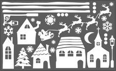 świąteczne dekoracje na okna - Szukaj w Google