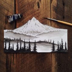 steelbison: PORTLAND It's been a year since I first flew up to see if I wanted to make Portland home. The answer was an immediate yes. Thank you to everyone who has made it so enjoyable this far. #Portland #Watercolor #MtHood