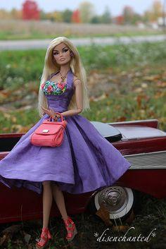 fashion doll, Pretty in purple!