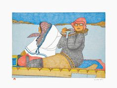 Kudluajuk Ashoona SNAPSHOT Lithograph   2014 51.5 x 66.3 cm $400.00 CDN Released in the 2014 collection Dorset ID#: 14-06