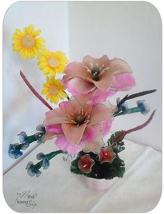 D coration florale en bas nylon on pinterest models and for Decoration florale