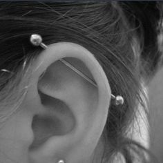 industrial piercing | Tumblr