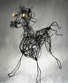 Black Metal Horse Wire Sculpture Horse Art Decor by WireArtInk, $50.00