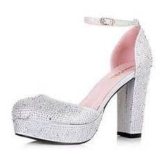 224755323fb de imitación zapatos de tacón grueso de la boda de la plataforma Zapatos