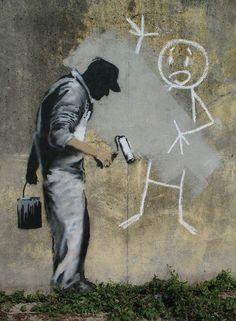 The Gray Ghost.. Artist: Banksy