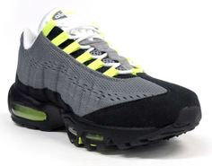 ... nike air max 95 em cool grey black white volt ...