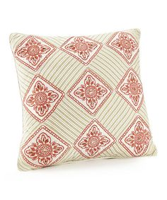 Look what I found on #zulily! Geometric Floral Throw Pillow #zulilyfinds