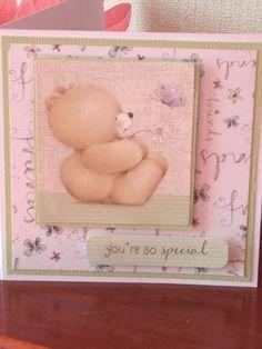Handmade Forever Friends You're so special card Friend Cards, Cards For Friends, Baby Cards, Kids Cards, Forever Friends Cards, Beren, Tatty Teddy, Animal Cards, Scrapbook Cards