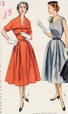 1950's Misses Dress and Jacket