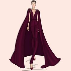 Sunday illustration: Make your Entrance! #GeorgesHobeika #hautecouture #couture…